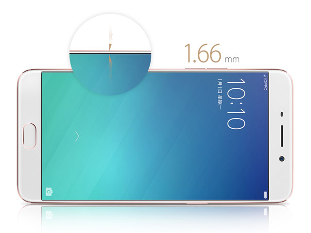 The-OPPO-R9-has-ultra-thin-1.66-mm-bezels