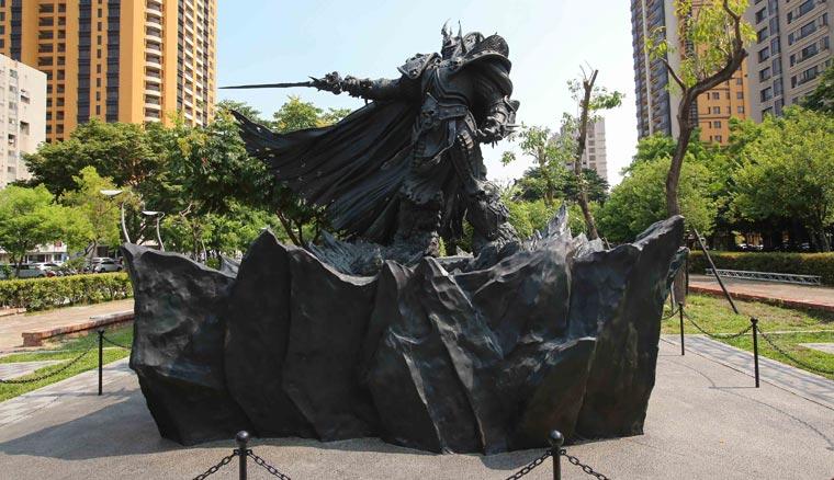 阿薩斯雕像將在台中草悟道豎立八年。
