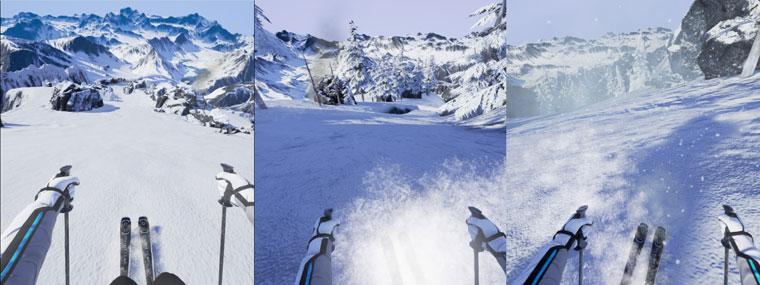 急滑降体感機 - スキーロデオ
