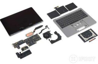 ifixit完成入門款無Touch Bar新13.3吋MacBook Pro拆解 @LPComment 科技生活雜談