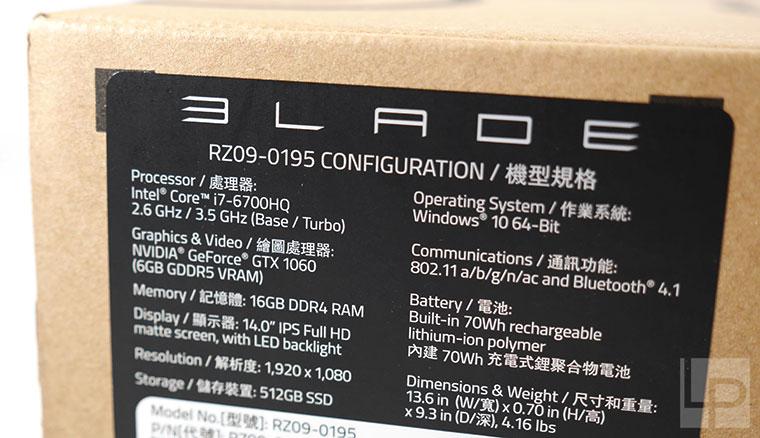 強大、輕薄!雷蛇靈刃Razer Blade Late 2016 GTX 1060電競筆電開箱