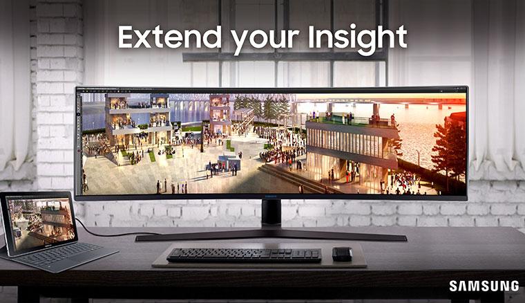 三星推出配備49吋32:9面板的SamsungC49J89超寬曲面顯示器