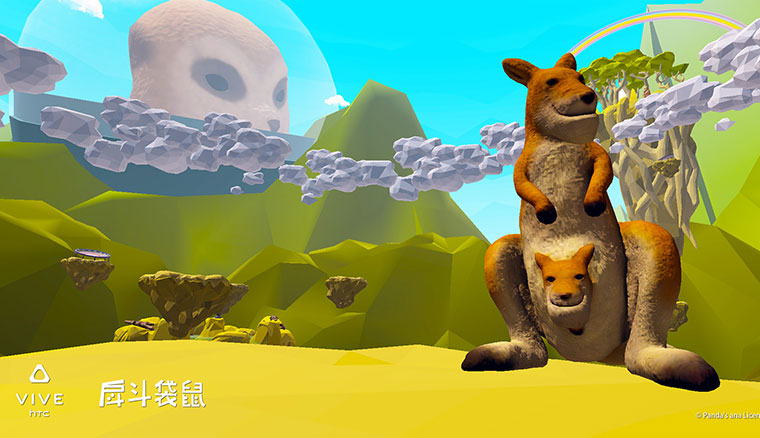 HTC取得《戽斗星球》IP授權,推出VR體動能遊戲《戽斗袋鼠》