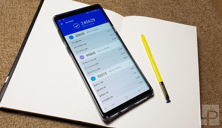 台灣市售版Samsung Note 9硬體效能、電池續航力測試!