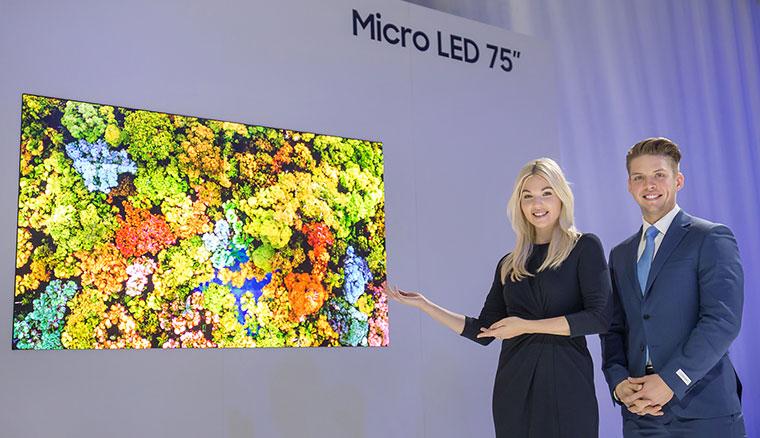 三星發表全新Micro LED模組化顯示器,包括75吋4K螢幕與219吋超大The Wall