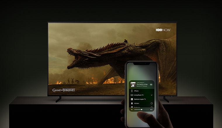 三星旗下智慧電視,春季起支援蘋果iTunes電影電視節目與AirPlay2串流