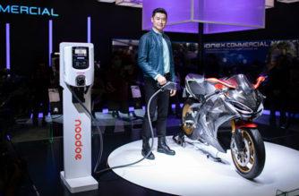 光陽電動重機SuperNEX充電裝置Noodoe EV OS於東京摩托車展亮相 @LPComment 科技生活雜談