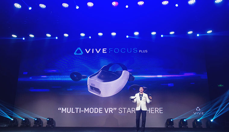 HTC發表Vive Focus Plus,支援6DoF並可連接外部設備兼容PC VR等更多內容