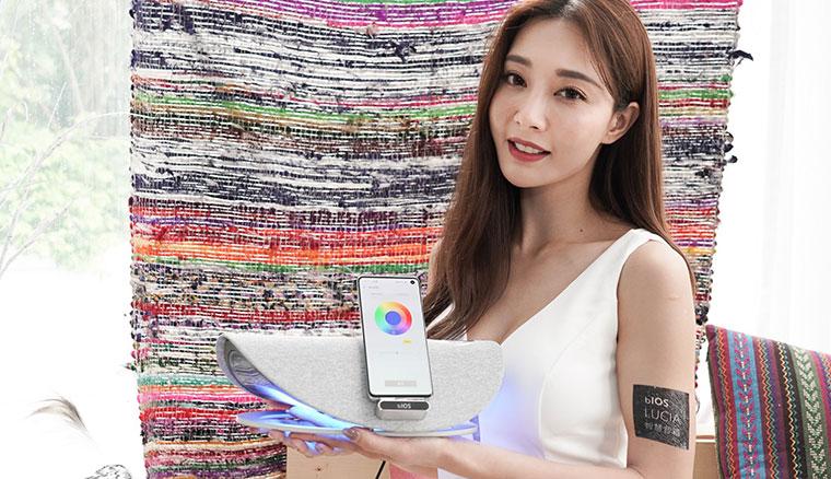 皇鋒通訊在台推出AI智慧音箱LUCIA,整合中華電信i寶貝智慧聲控服務