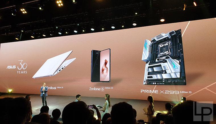 華碩推出30周年紀念款ZenFone 6手機、ZenBook筆電與PRIME X299主機板