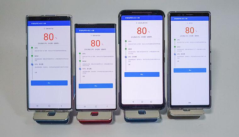 實測高通版三星Note10安兔兔v8跑分破44w,與Exynos版差別不大(ROG Phone 2、Sony Xperia 1比較)