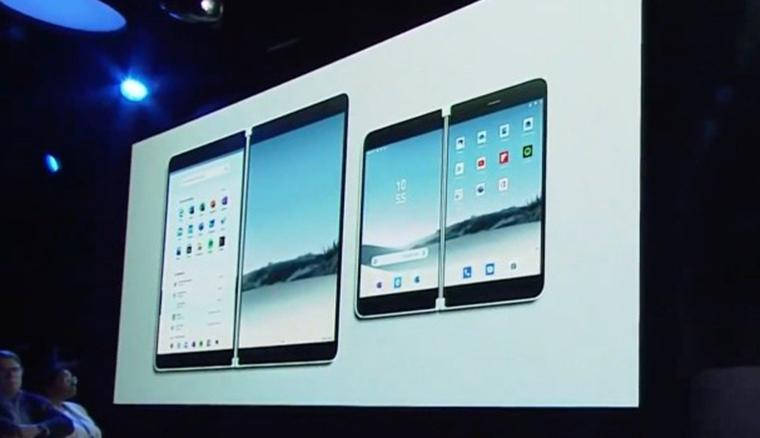 微軟發表雙螢幕摺疊筆電Surface Neo,以及雙螢幕摺疊手機Surface Duo