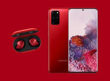 三星於韓國推出紅色款Galaxy S20+與Galaxy Bud+,由歌手金智妮Jennie代言 @LPComment 科技生活雜談