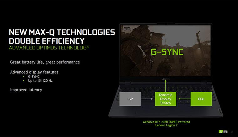NVIDIA公佈GeForce RTX 2080 Super與RTX 2070 Super遊戲筆電獨顯