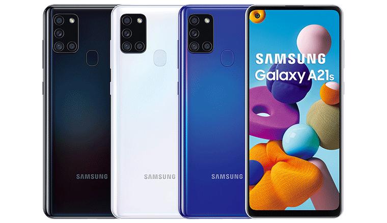 三星Galaxy A21s六月中在台上市,大螢幕大電力四鏡頭7千有找