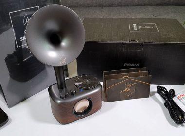 山進蕭邦SANGEAN ChoPin調頻藍牙喇叭開箱:復古留聲機造型,支援藍牙/FM/AUX與40hr電力 @LPComment 科技生活雜談