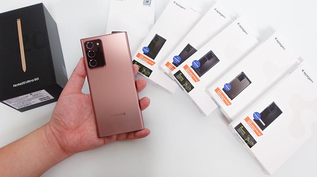 台灣市售版三星Galaxy Note20 Ultra及多款SPIGEN保護殼開箱!(有抽獎)