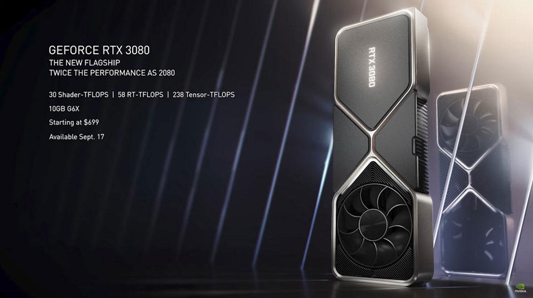 NVIDIA揭曉GeForce RTX 3070 / 3080 / 3090顯卡,光是499美元起的3070就已經超越2080 Ti性能表現!