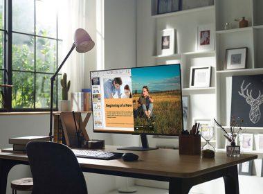 三星Smart Monitor M7 / M5智慧聯網螢幕在台推出,採Tizen平台兼具電腦螢幕與智慧電視功能 @LPComment 科技生活雜談