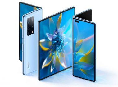 華為揭曉新款摺疊螢幕手機Mate X2,改採與三星Fold2類似的內摺設計,搭配特殊楔形機身 @LPComment 科技生活雜談