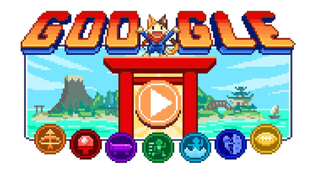 迎接2020東京奧運,Google首頁推出結合桃太郎等人物與多項競技的16bit風格日系RPG遊戲