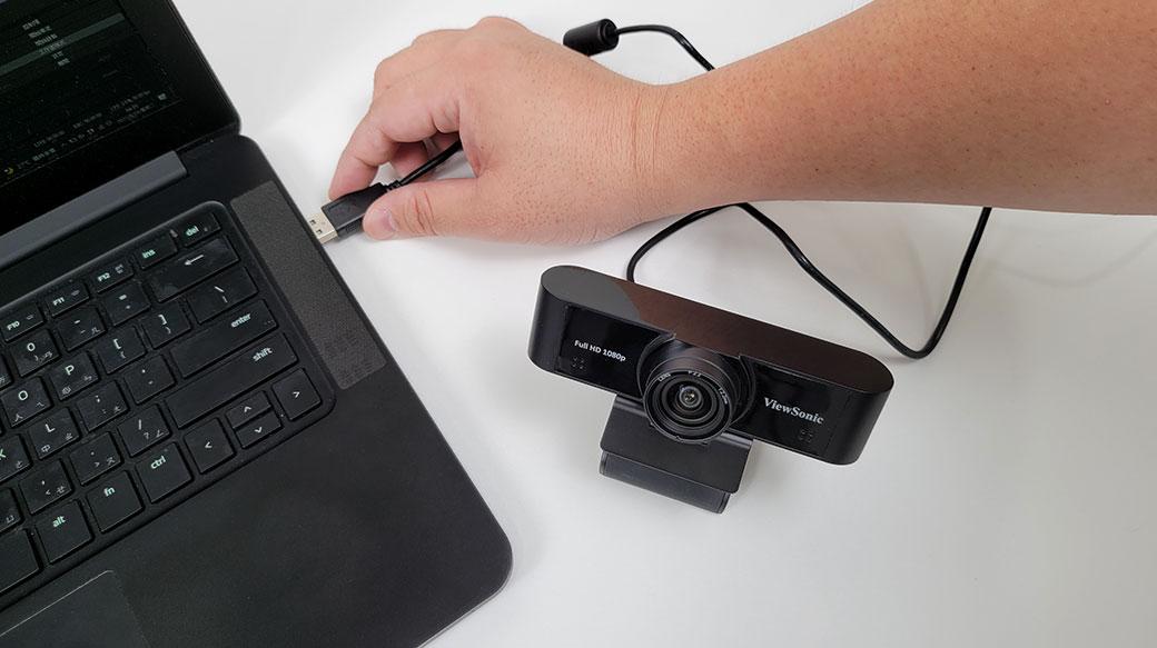 110°超廣角1080P+立體聲降噪:ViewSonic VB-CAM-001網路攝影機開箱